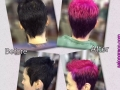 Befor & After Black to Fuschia