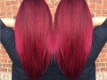 Red Fuschia Balayage