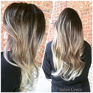 Salon Greco delivers professional balayage and other hair color techniques