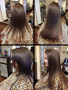 Hair Extensions before and after.